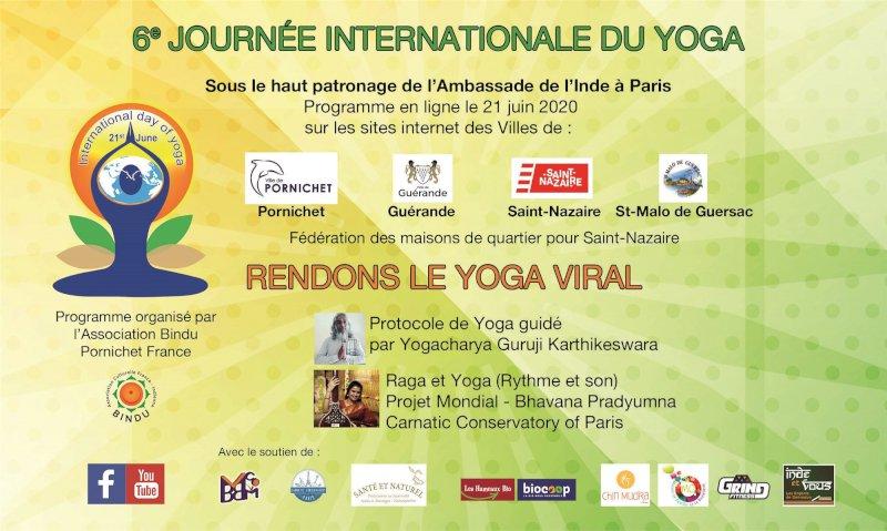 Célébration en ligne de la « journée internationale du yoga »
