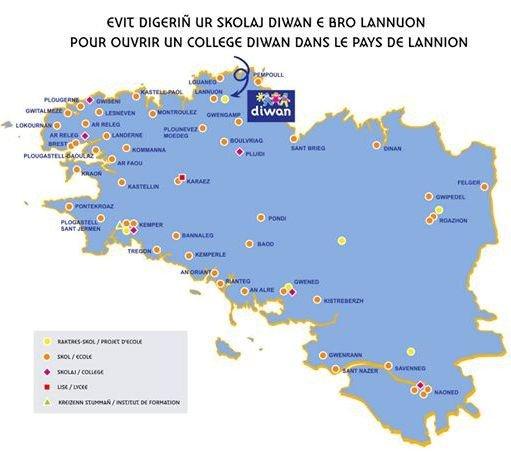 Réunion Comité de soutien Collège Diwan Pays de Lannion
