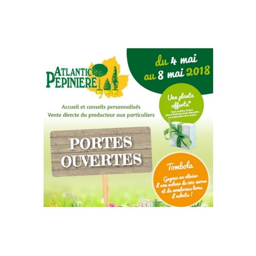 PORTES OUVERTES - ATLANTIC PEPINIERE  / - 10% avec le code promo DevDu