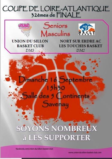 BASKET - 32 èmes de finale de la coupe de Loire Atlantique