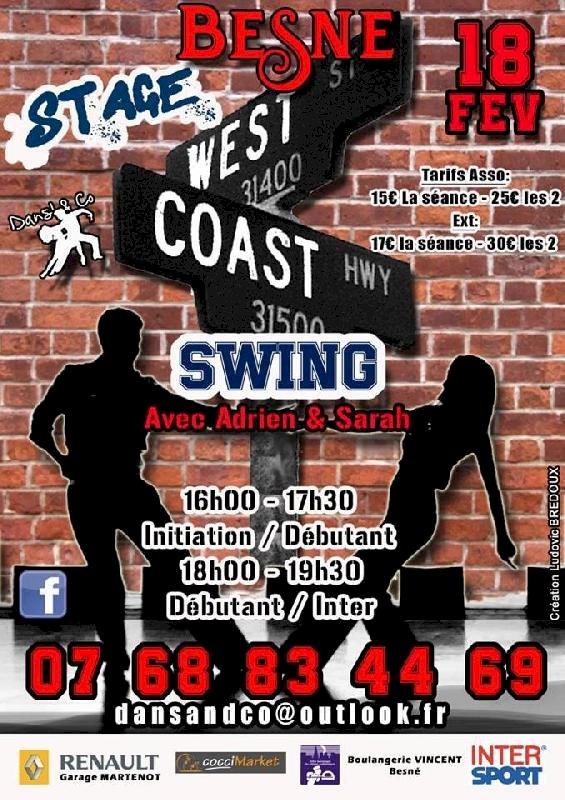 Stage de West coast swing
