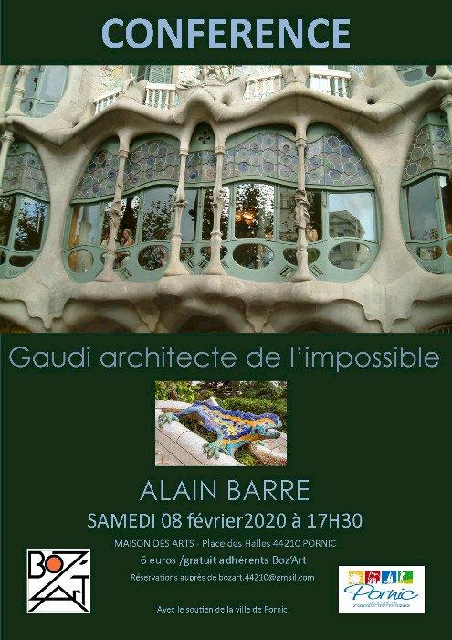 Conférence : Gaudi architecte de l'impossible