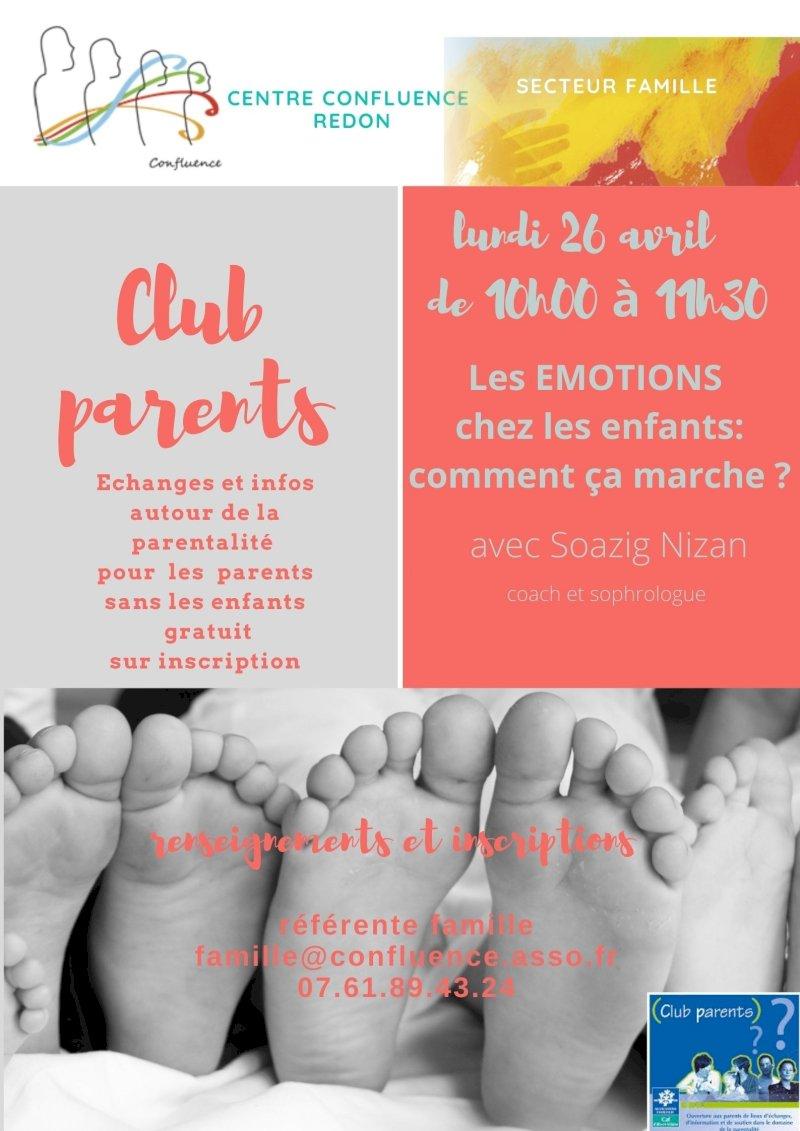 Club parents : les émotions chez les enfants, comment ça marche ?
