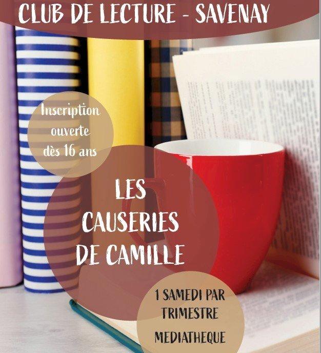 """Club de lecture """"Les causeries de Camille"""" par la Médiathèque de Savenay"""