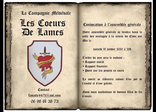 Agenda Pornic : Les Cœurs de lames (Réunion, assemblée) - Ouest-France