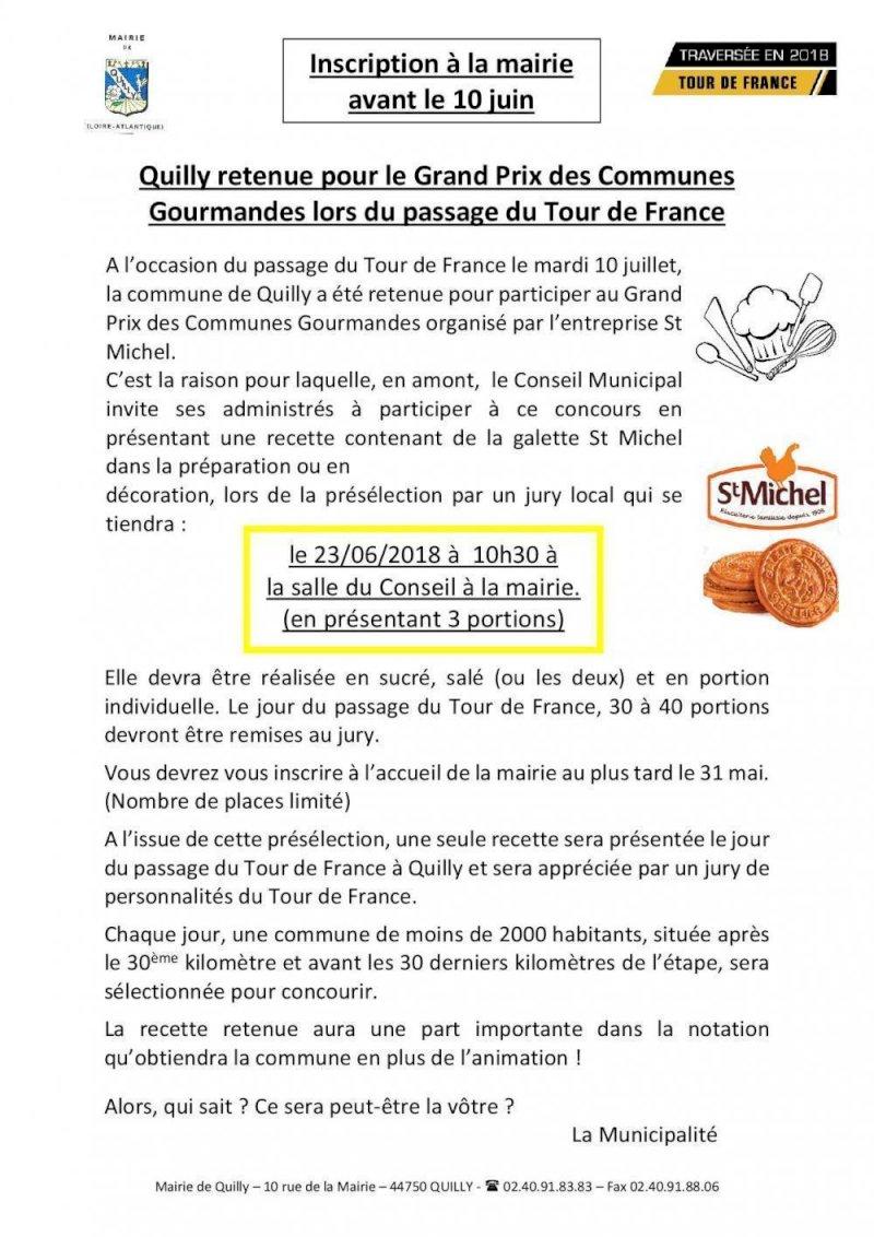 """INSCRIPTION """"Grand prix des communes gourmandes"""""""