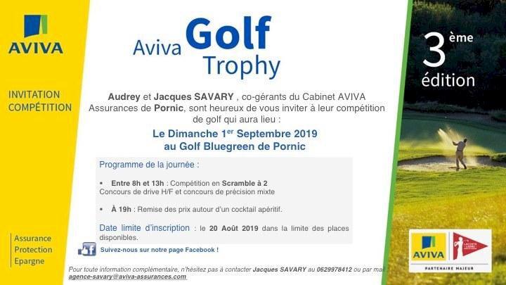 AVIVA Golf Trophy  au Golf Blue Green de Pornic - 3 ème édition