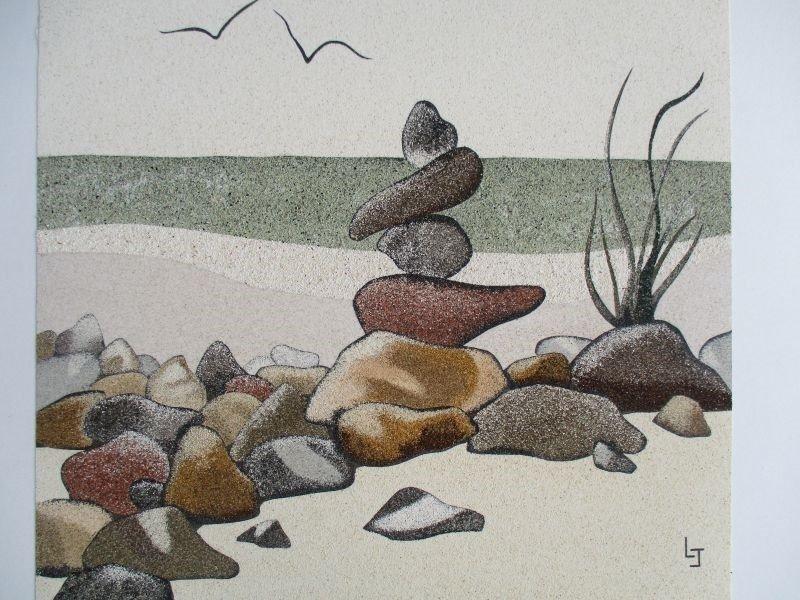 Peintre des Sables : tableaux en sables naturels