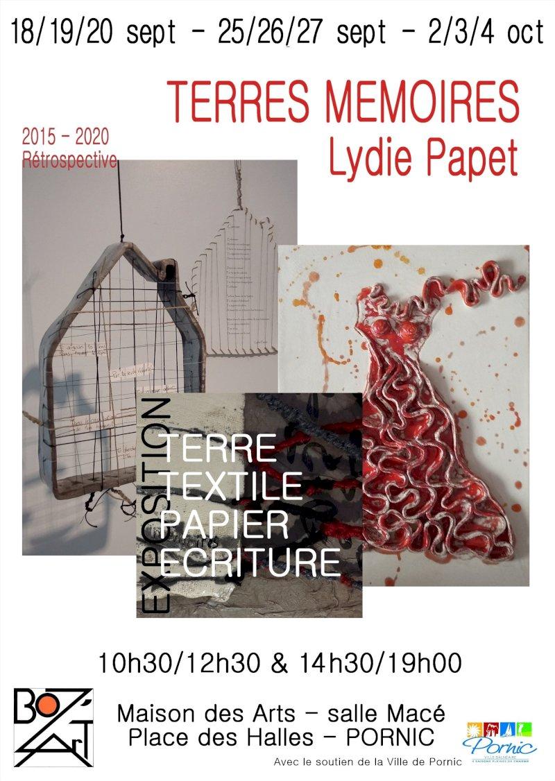 « Terres mémoires » rétrospective 2015-2020 Lydie Papet