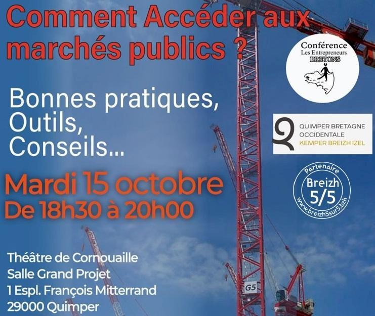 Comment Accéder aux Marchés Publics ?, Quimper (#CommuneBreizh5sur5)