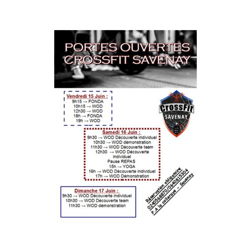 VITAL CLUB - PORTES OUVERTES - CROSSFIT - Savenay