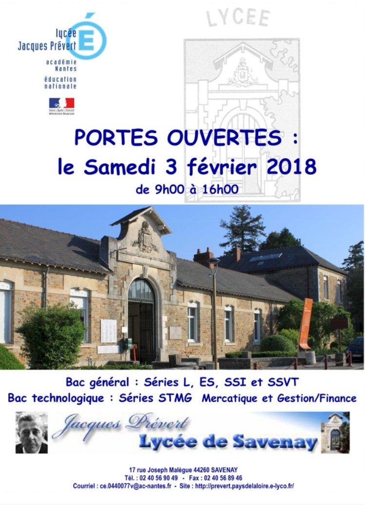 """PORTES OUVERTES """"Lycée Jacques Prévert"""""""