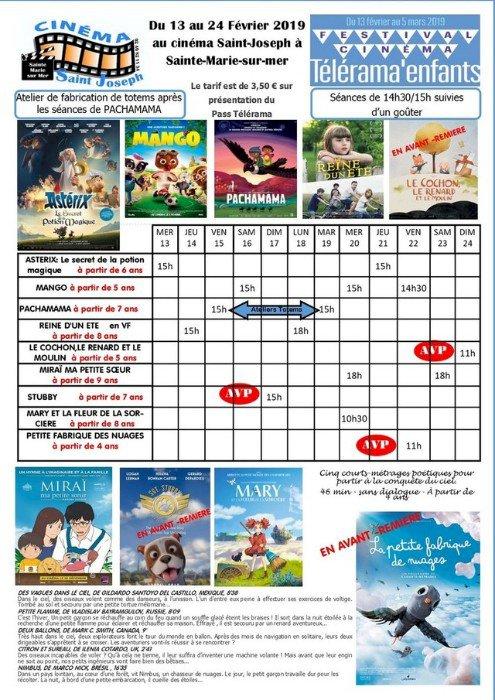 Programme du cinéma Saint Joseph du 13 au 24 février 2020