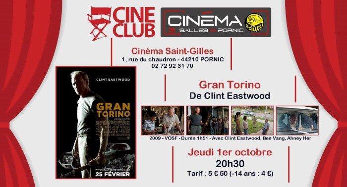 Séance Ciné-Club GRAN TORINO de Clint Eastwood