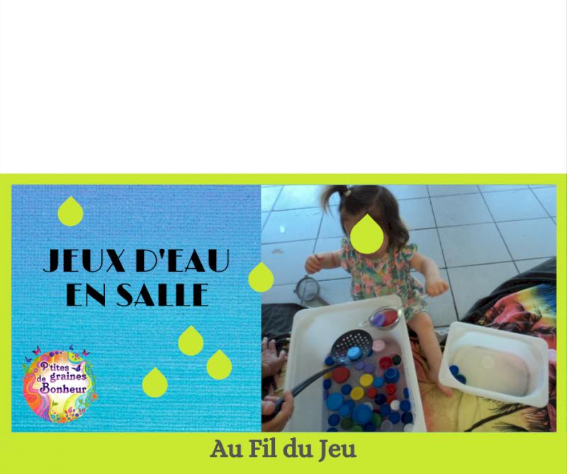 Atelier adulte-enfant « Jeux d'eau en salle »