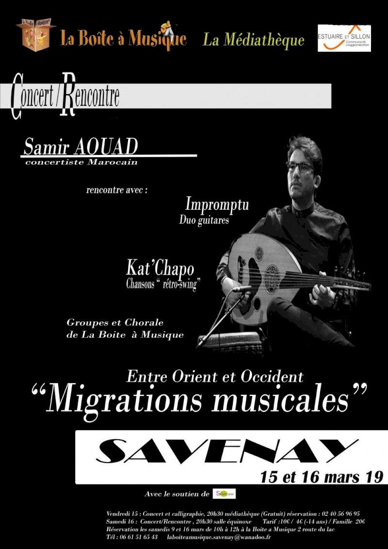 "Concert / Rencontre ""MIGRATIONS MUSICALES"""