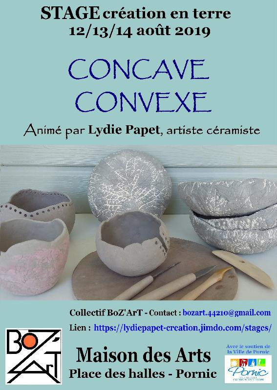 Stage de création en terre sur le thème « concave-convexe »