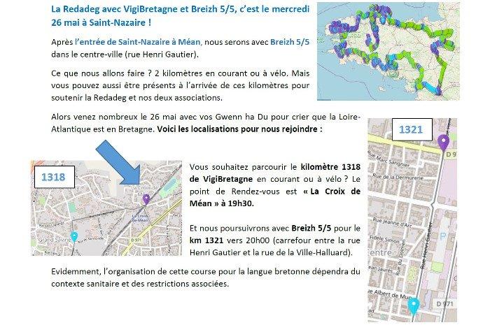 """Km Redadeg de """"VigiBretagne"""" à Saint-Nazaire"""