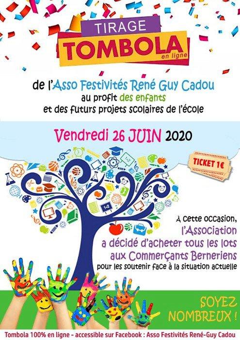 Tirage Tombola du 26 juin de l'Asso Festivités René Guy Cadiou