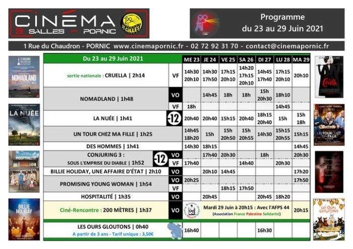 Programme du mercredi 23 au mardi 29 juin 2021 du Cinéma Saint Gilles 3 salles Le Chaudron
