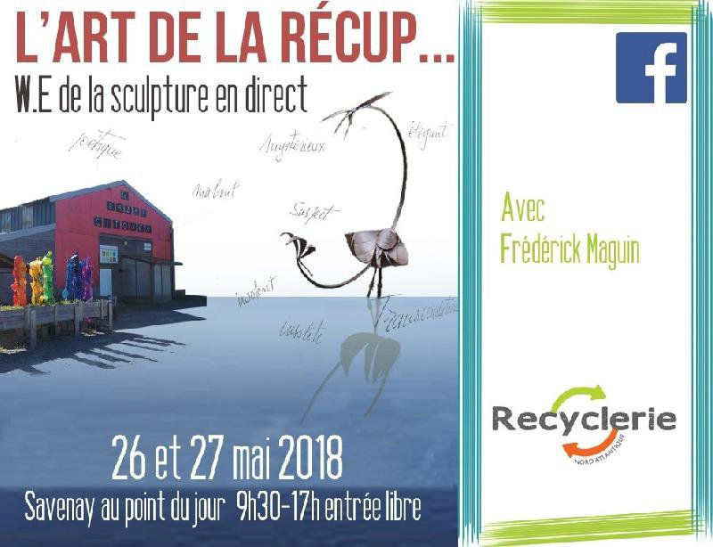 L'art de la récup... sculpture en direct à la Recyclerie