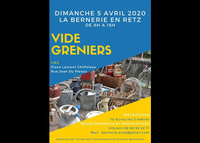 Agenda La Bernerie-en-Retz : Vide-greniers (Acheter, chiner) - Ouest-France