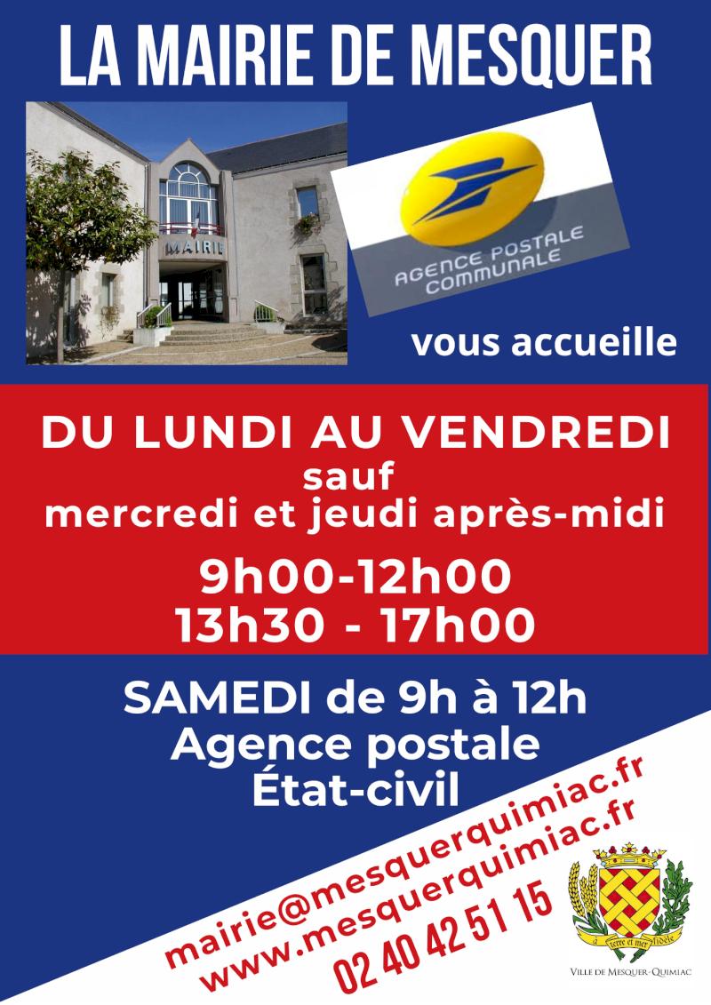 Mairie de Mesquer et agence postale