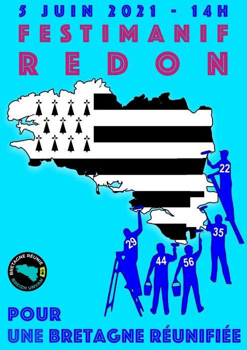 Manifestation pour une Bretagne à 5