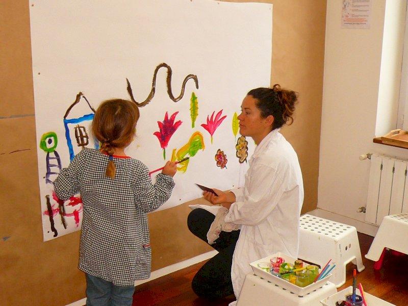 Duo peinture parent-enfant
