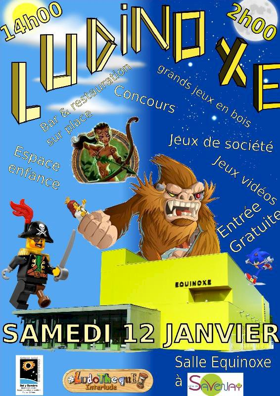 Fête du jeu Ludinoxe, 12 h de jeux non-stop