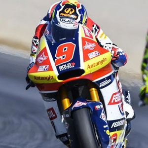 A crash puts an end to Navarro's race at Motegi