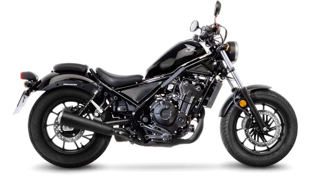 The new LeoVince Classic Racer Black Edition for Honda CMX 500 Rebel (2017-2019)