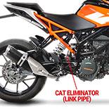 LEOVINCE CAT ELIMINATOR (LINK PIPE)
