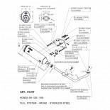LEOVINCE 4ROAD TITANIUM HEADER STAINLESS STEEL
