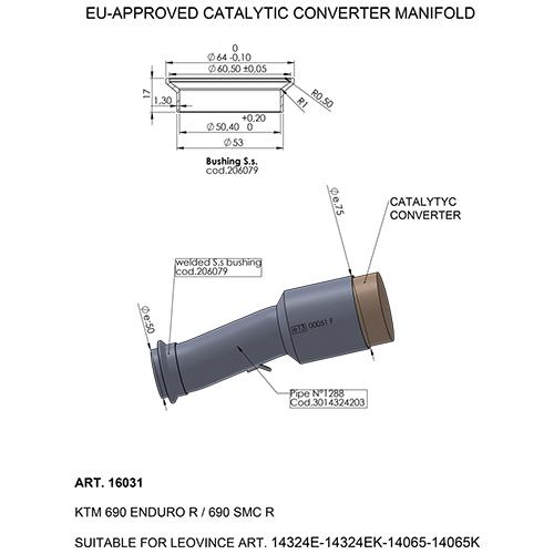 LEOVINCE CATALYTIC CONVERTER MANIFOLD