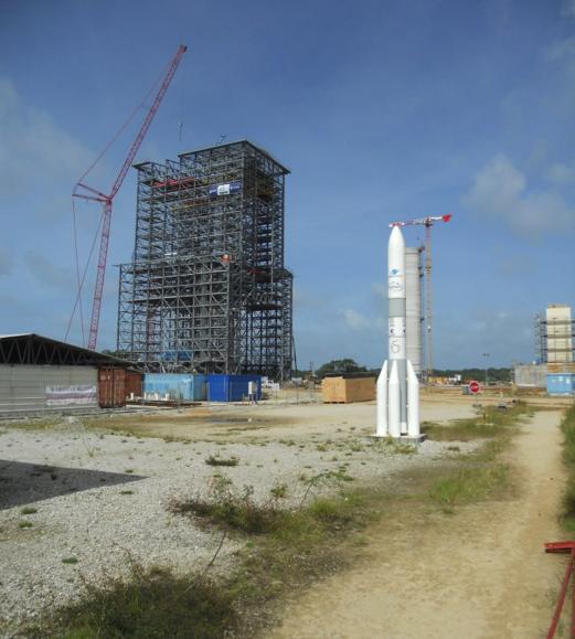 visual of the ariane spaceship