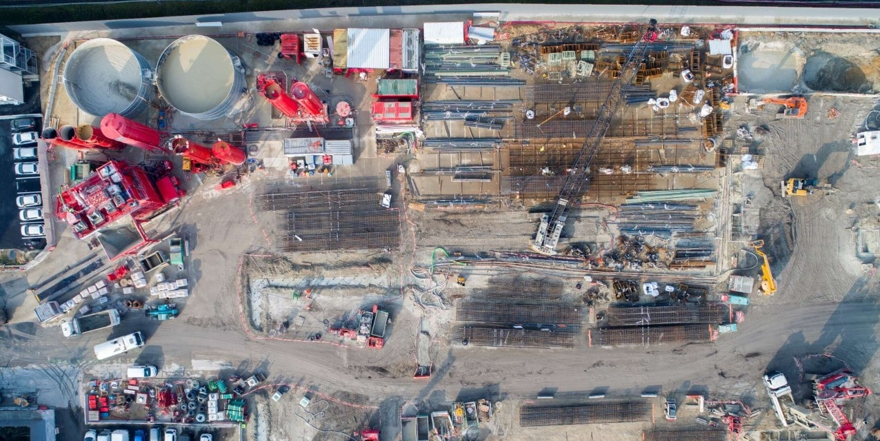 visual of a building site in creteil