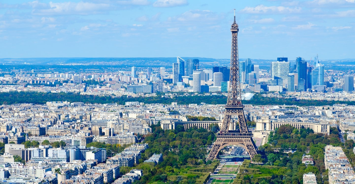 visual of paris and the eiffel tower