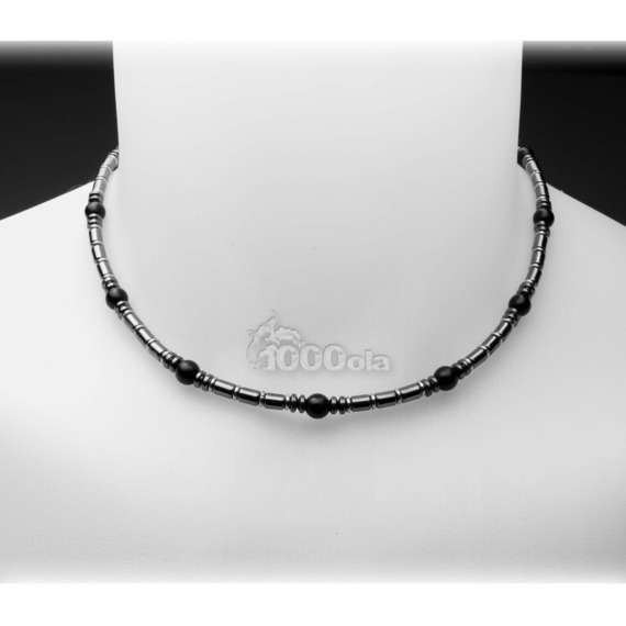 collier agate homme