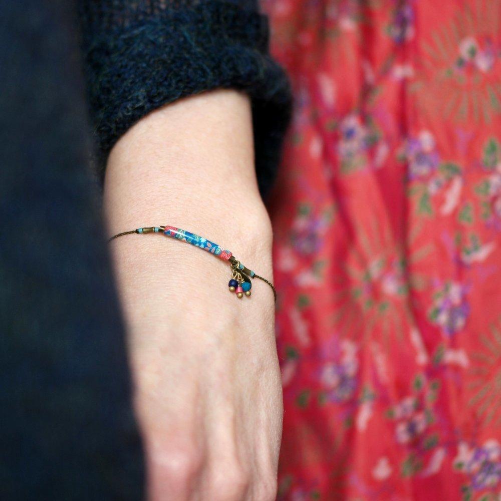 Bracelet motifs japonais et pampilles 'Dionée'