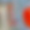 Boucles d'oreilles pendantes à motifs floraux rouges et pampilles sur crochets en argent 925, collection 'callistémon'