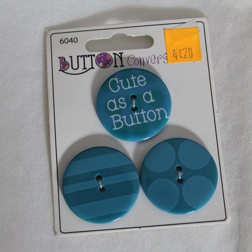 3 boutons fantaisie loisirs créatifs