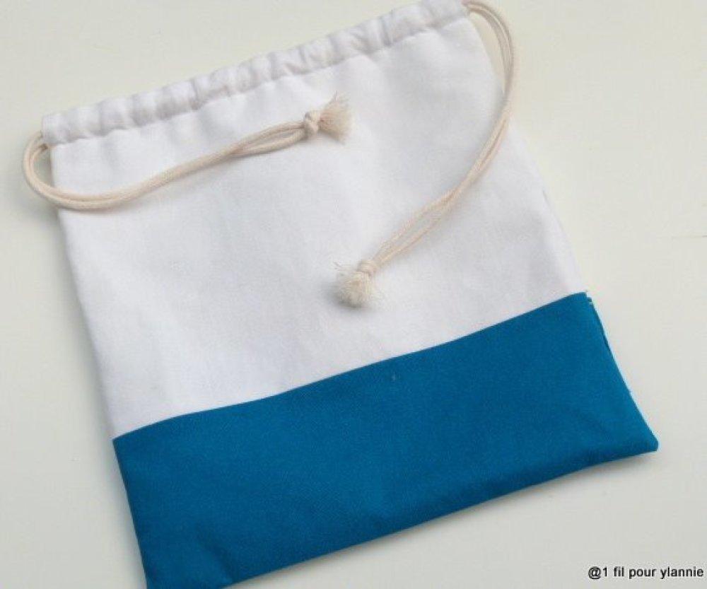 Pochon  bordé main,  un cadeau pratique,  original et élégant