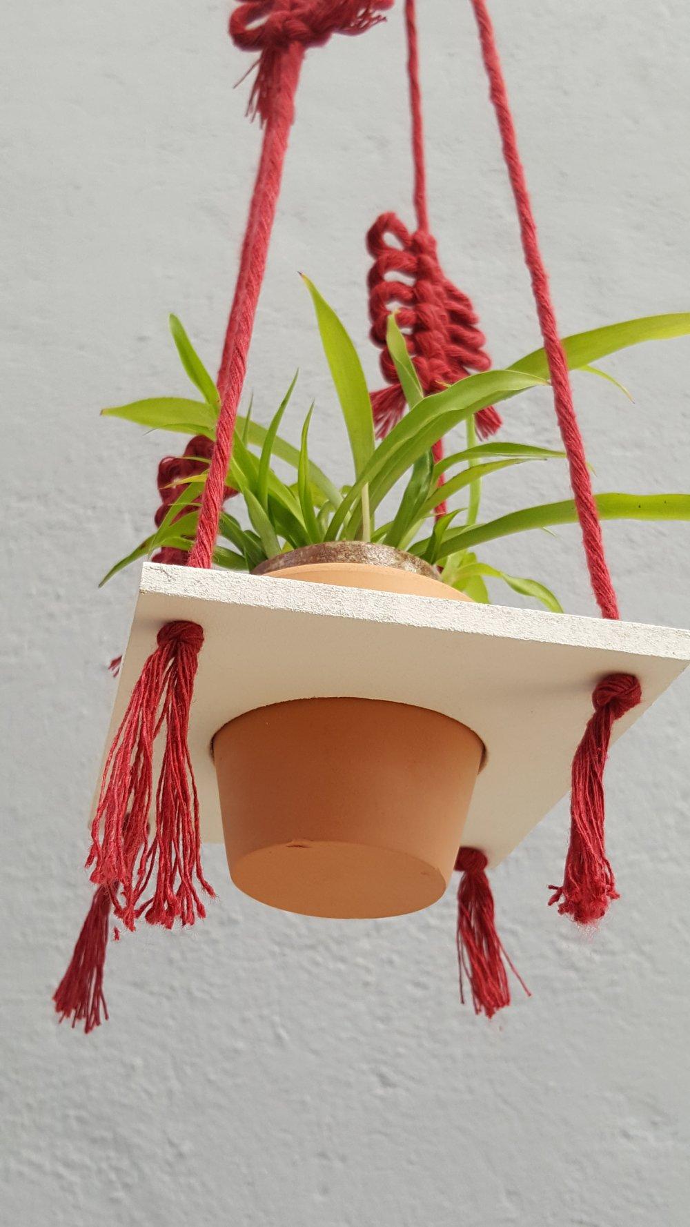 "Porte plante macramé "" SoRed "" suspension plante tendance."