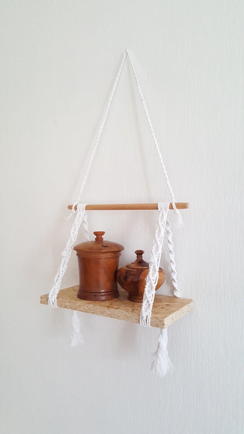 ( vendu) Macramé, étagère suspendue, décoration intérieure, fait main