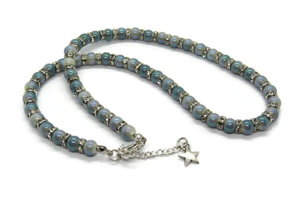 collier ras de cou strass et perle