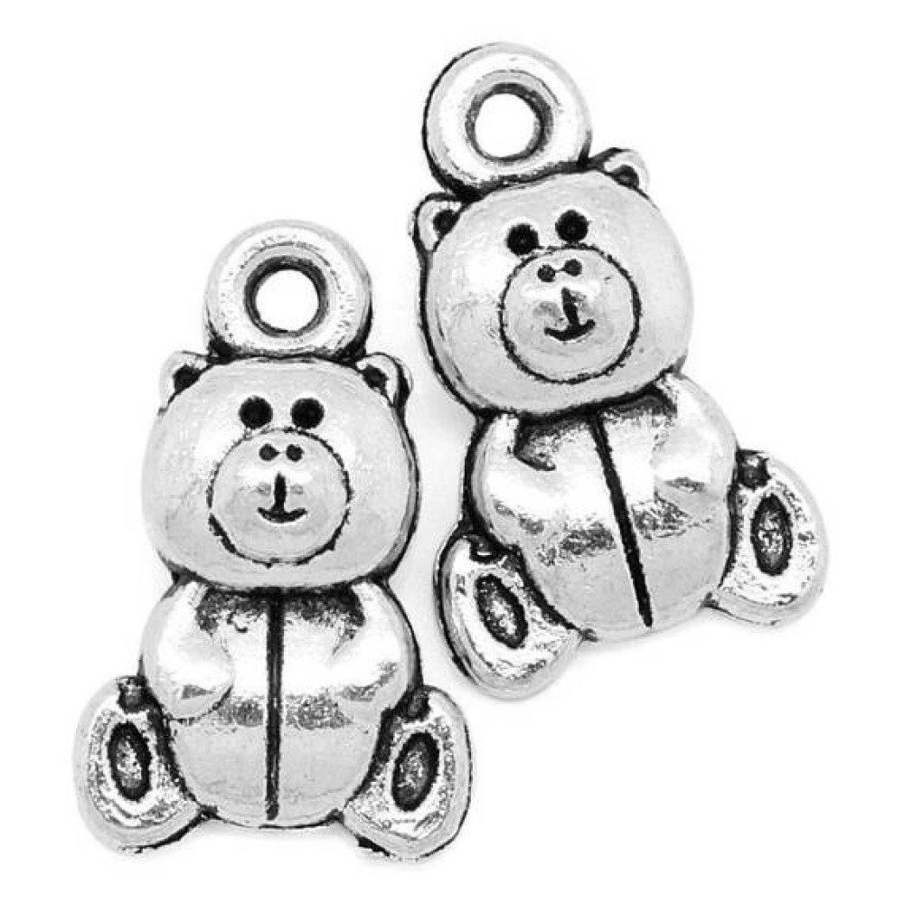 lot 5 breloque pendentif Nounours métal 16*10 mm