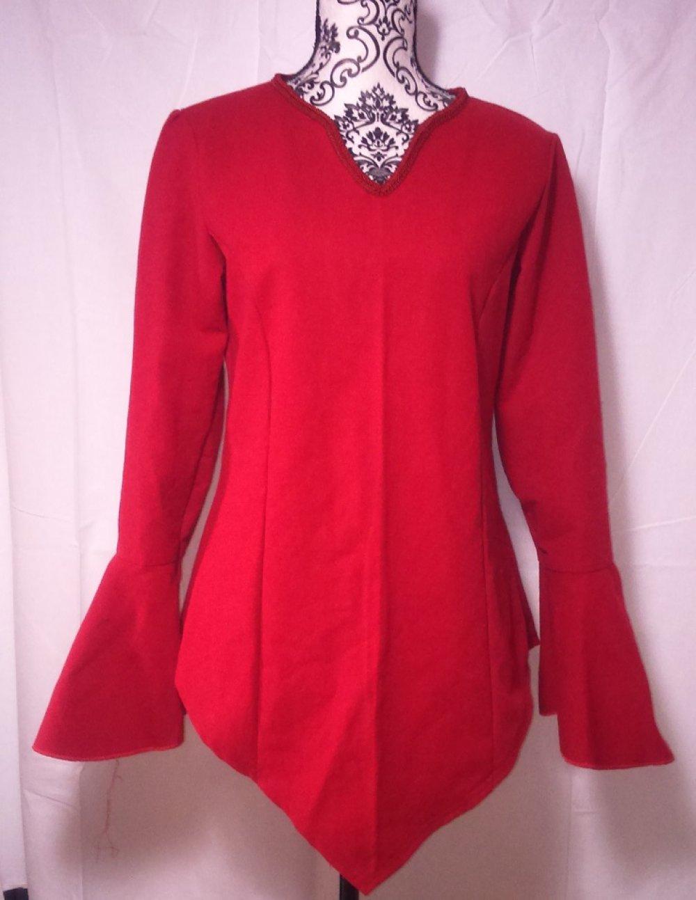 Tunique médiévale rouge Taille M/L