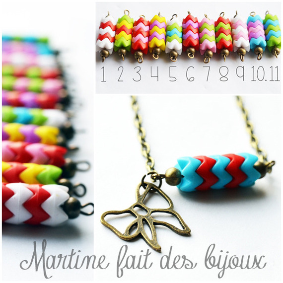 """Petit collier 40 cm """"pendentif PERSONNALISABLE"""" au choix multicouleur"""