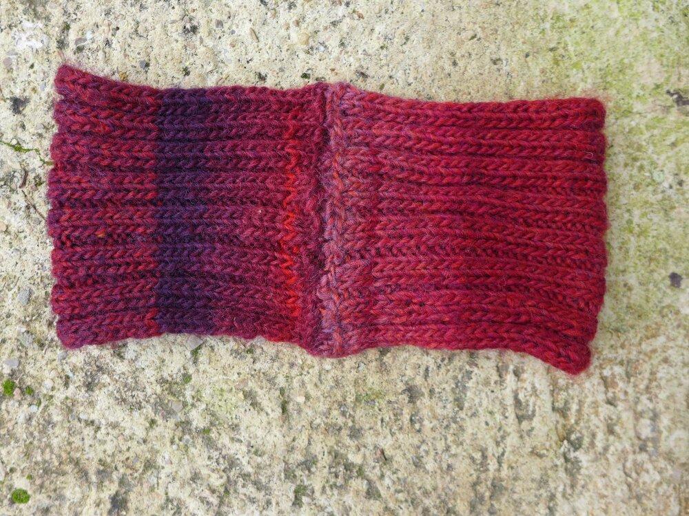 bandeau DIA laine rouge